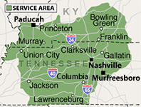 Our Tennessee and Kentucky Service Area